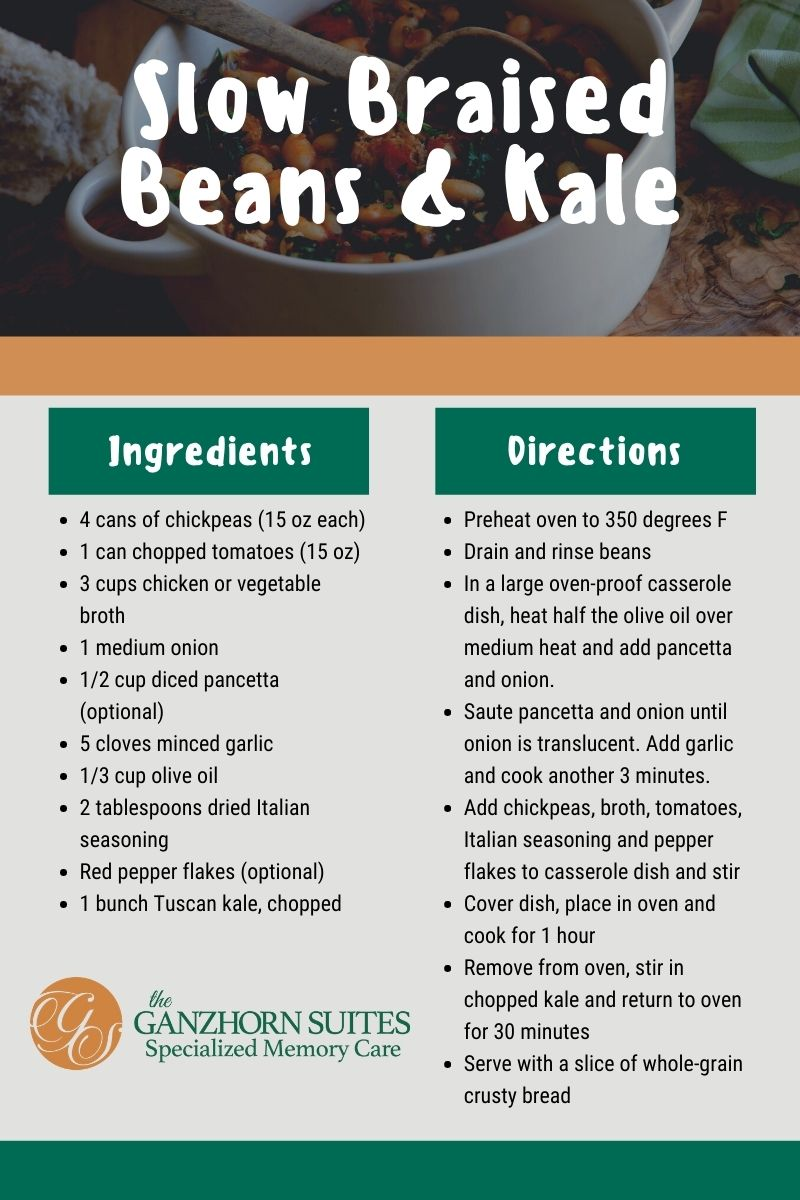 Braised Beans & Kale