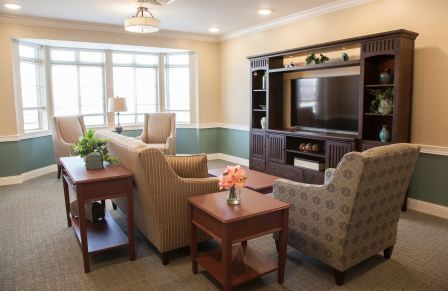 Resting area in our assisted living center