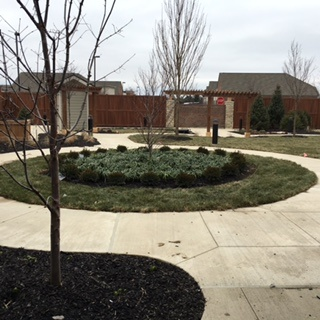 Circular courtyard path at our memory care center