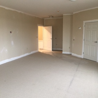 Open bedroom with no furniture