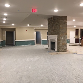 Empty common area at our memory care center