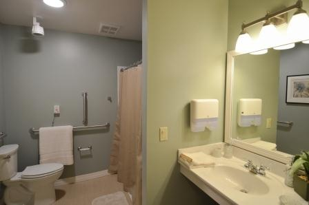 A resident's private bathroom