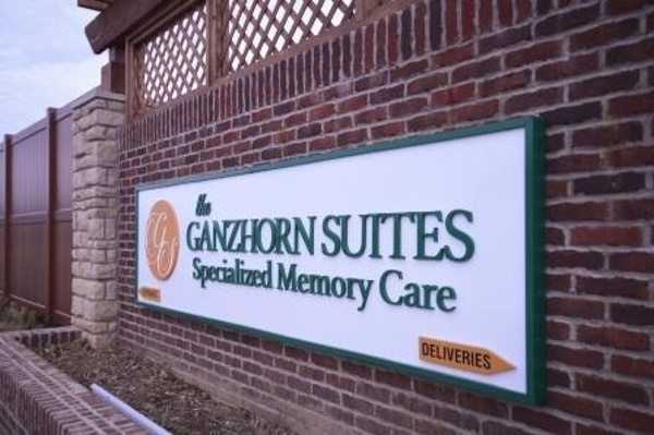 The Ganzhorn Suites Memory Care sign