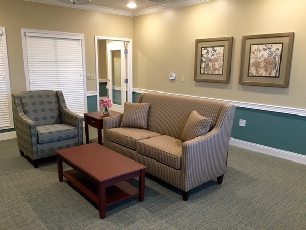 Couch in our assisted living center