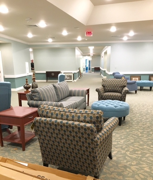 Common area in front of an Exit